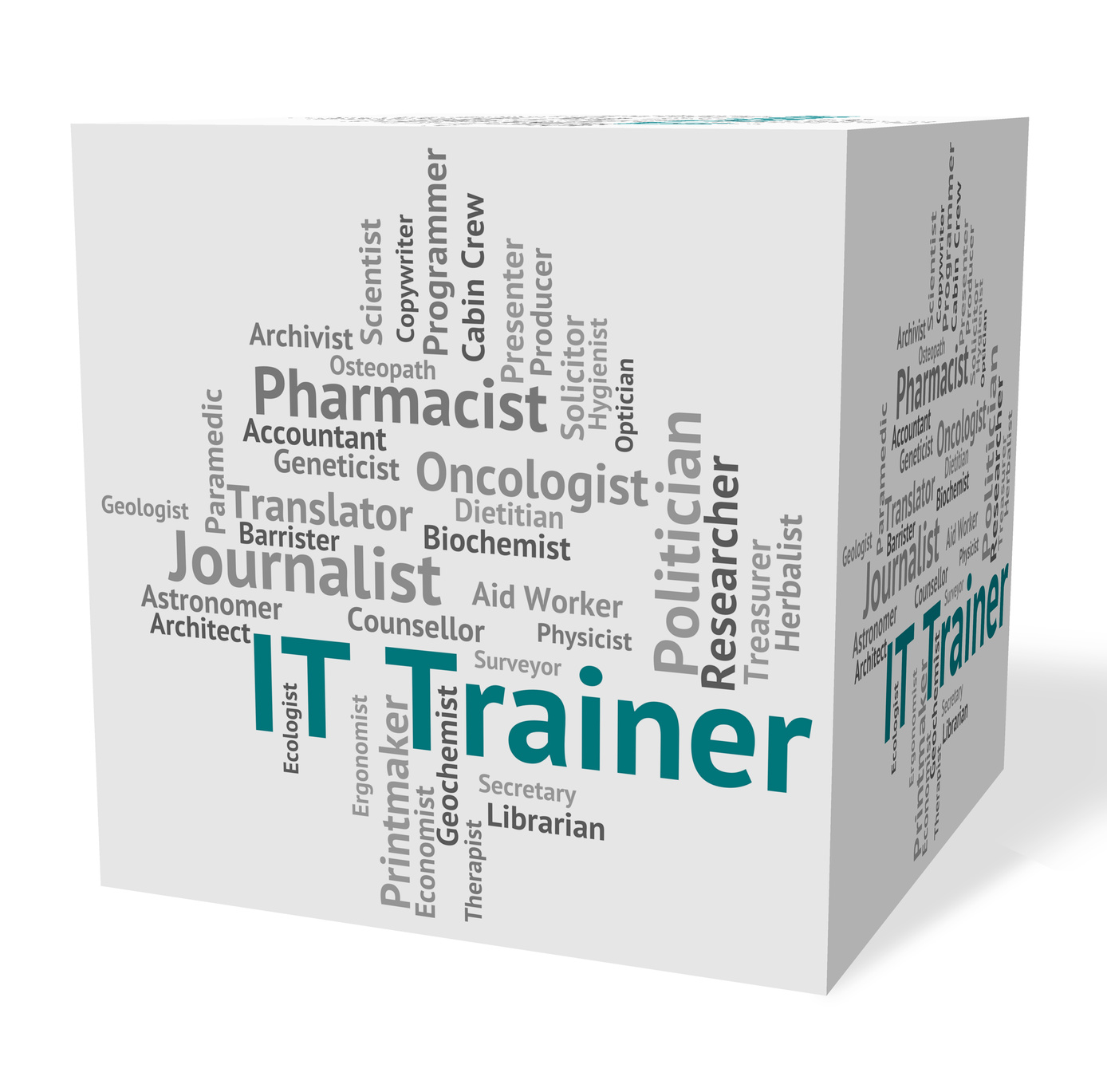 Information Technology Indicating It Trainer And Words